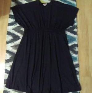 🌠Merona Deep V-Neck Blk Dress Sz L 🌠
